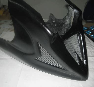 Footstep Depan Honda Glpro Mega Pro tutup mesin fiber pendek hitam model vixion category