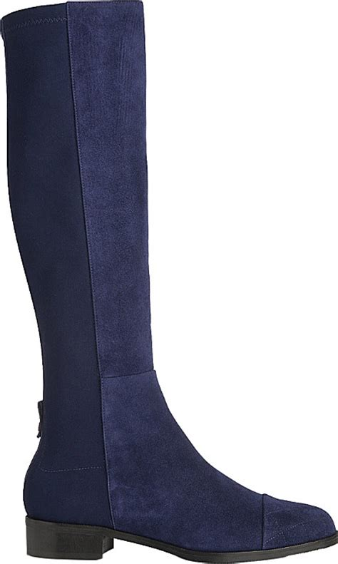 l k bambra suede knee high boots in blue