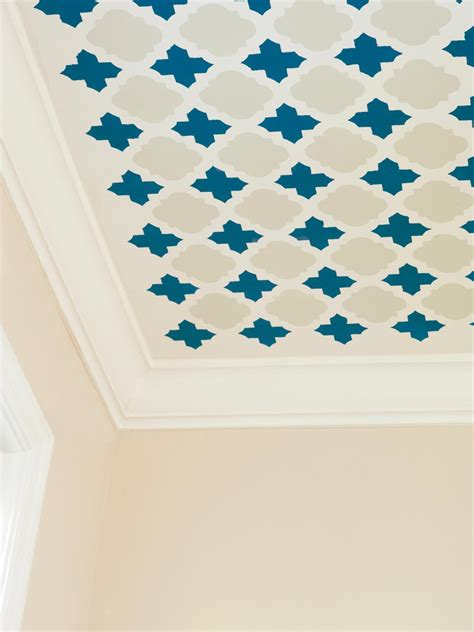 ceiling patterns stencil a fun pattern on your ceiling hgtv