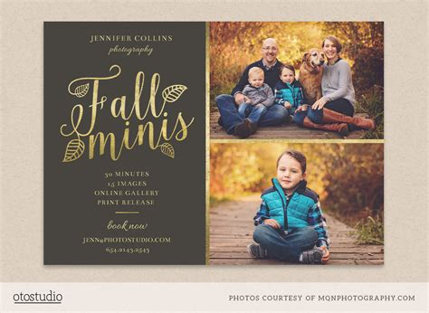 Fall Minis Marketing Board Template Flyer Templates On Creative Market Free Mini Session Templates