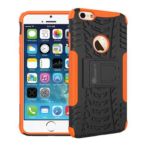 Ironman Iphone 6 Plus Hybrid With Klck Stand rugged heavy duty armor tough with kickstand for