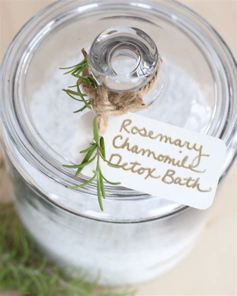 Chamomile Tea During Detox by Rosemary Chamomile Detox Bath Salts