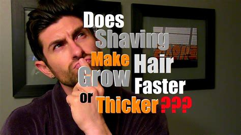 does plaiting the hair make it grow long does shaving make hair grow back thicker faster or more