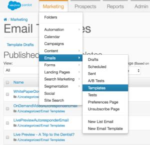 How To Send A Single Email From Pardot Paul B Fischer Pardot Email Templates