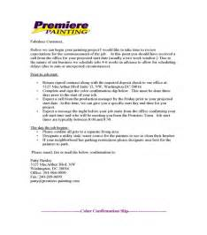 How To Write A Painting Contract by Sle Business Proposals Painting Contractor Sle