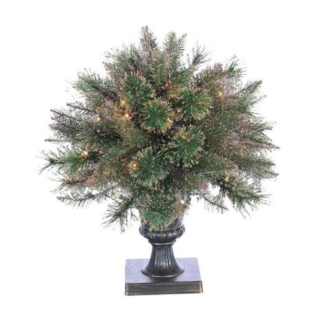 lighted tree in urn lighted potted fiber optic tapered topiary in urn