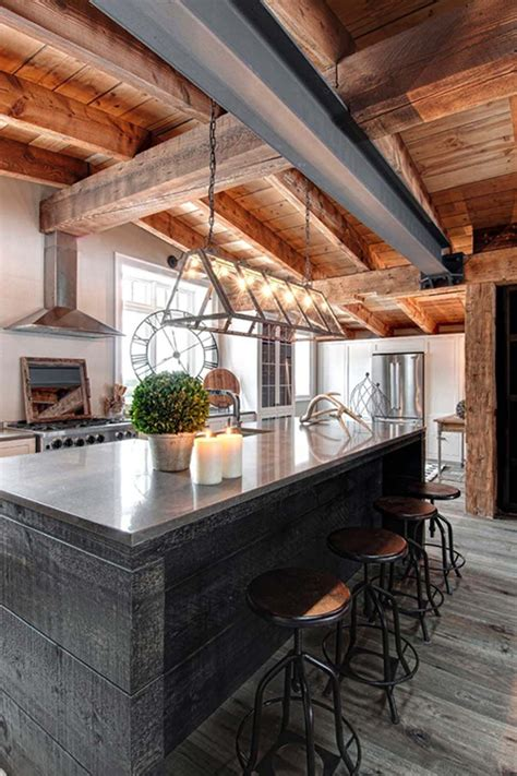rustic modern cabin cabin interior design stone wood