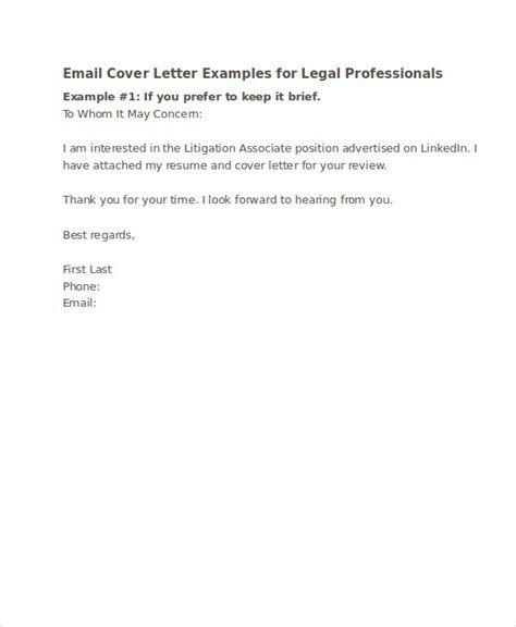 Email Cover Letter For Business 48 Exles Of Formal Letters