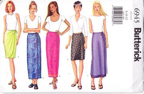 sewing pattern wrap butterick 6945 women s sewing pattern front wrap skirt in