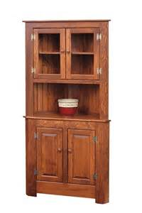 Corner Kitchen Hutch Cabinet Amish Corner Hutches Handcrafted Solid Wood Corner Hutches By Dutchc