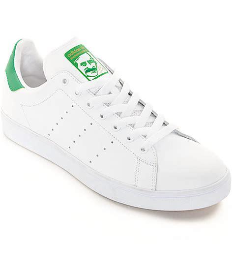 Sepatu Adidas Stanssmith White adidas stan smith white green shoes zumiez