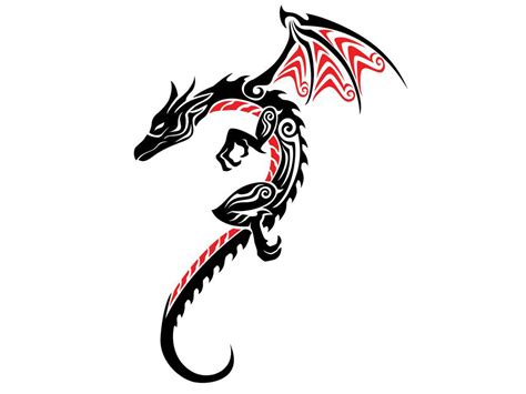 black tribal dragon tattoo designs black tribal www pixshark images