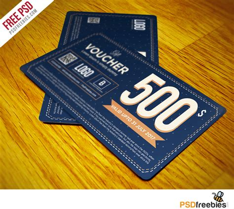 board card template psd gift voucher template free psd vol 3 psdfreebies