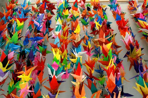 Folding 1000 Paper Cranes - every day is special november 11 2012 origami day