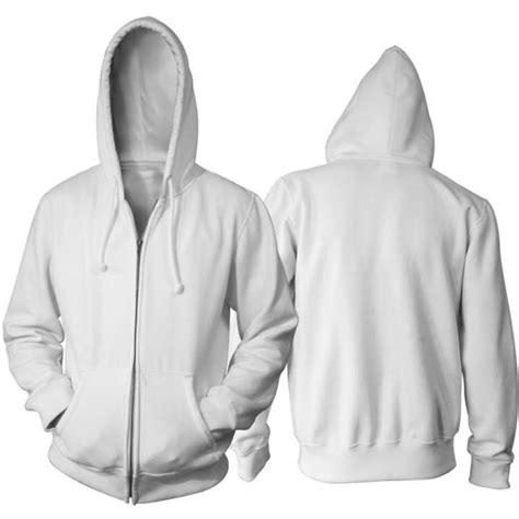 jaket polos putih hoodie zipper resleting lazada indonesia