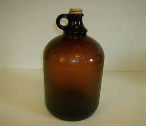 Clorox 1 Gallon Bleach Bottle ~ Brown Glass ~ 1950's from