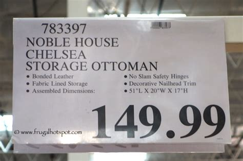 Noble House Chelsea Storage Ottoman Noble House Chelsea Storage Ottoman Costco Price Frugal Hotspot