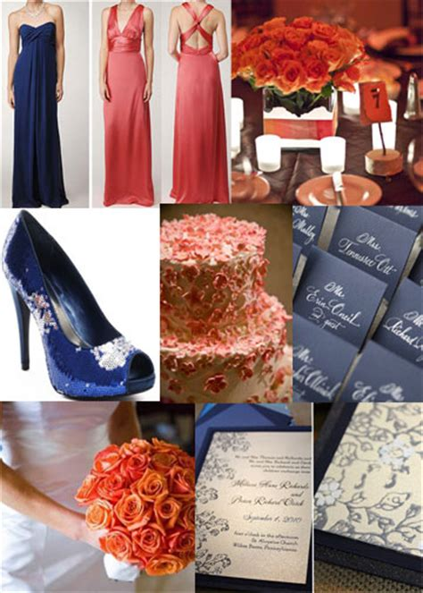 navy and coral wedding ideas any other navy and coral weddings out there weddingbee