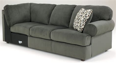 jessa place sectional pewter jessa place pewter left arm facing sectional from ashley