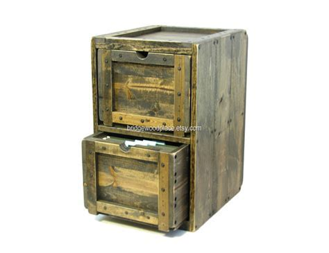 File Cabinet, Rustic Solid Wood Office Filing Cabinet