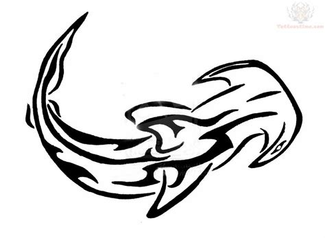 tribal hammerhead tattoo hammerhead shark outline clipart panda free clipart images
