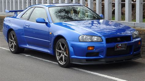nissan blue car nissan gtr r34 blue car the flush function stancenation
