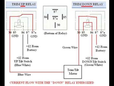 troubleshooting bypassing wiring spdt tilt trim relay