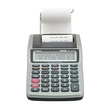 Calculator Printing Casio Hr 8tm casio hr 8tm plus printing calculator by office depot officemax