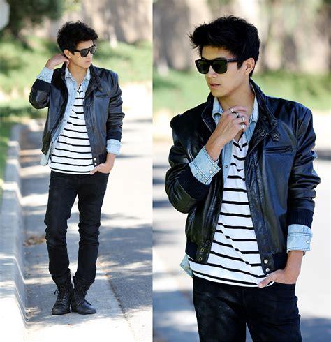 Kemeja Denim Boy adrian verducci leather jacket pacsun denim shirt