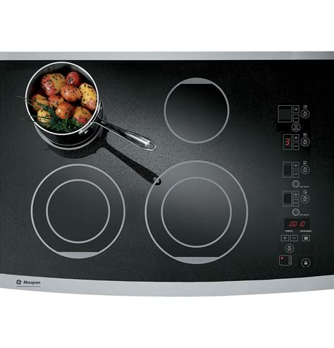 Ge Monogram Cooktops ge monogram 174 30 quot digital electric cooktop zeu30rsfss ge appliances