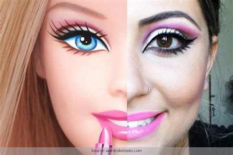 design doll to look like you perfecting the makeup like barbie doll