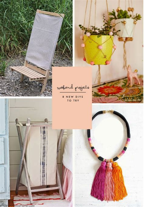 diy projects to try weekend projects 8 new diy projects to try poppytalk