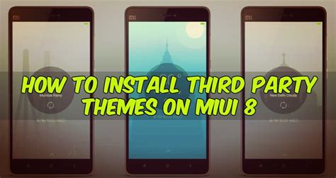 miui themes from third party how to install third party themes on miui 8