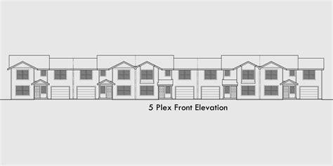 5 unit house plans 5 unit townhouse plans 2 bedrooms fv 568 five plex 5 unit row house 5 unit townhouse multifamily
