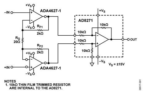 simulated inductors using differential lifiers cn0122 circuit note analog devices