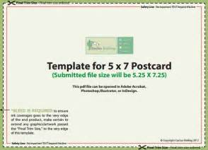 5x7 postcard template template design