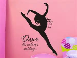 Dance Wall Stickers Wall Decal Dance Like Nobodys Watching With Dancer By