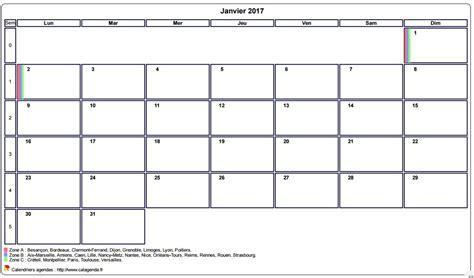 Calendrier Almanach 2017 Calendrier 2017 Avec Vacances Scolaires