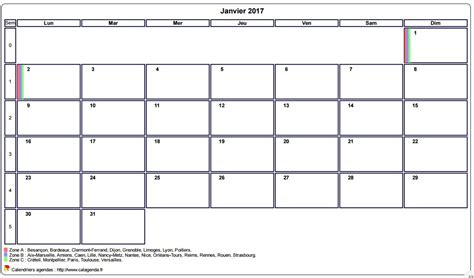 Calendrier 2017 Quantieme Calendrier Mensuel 2017