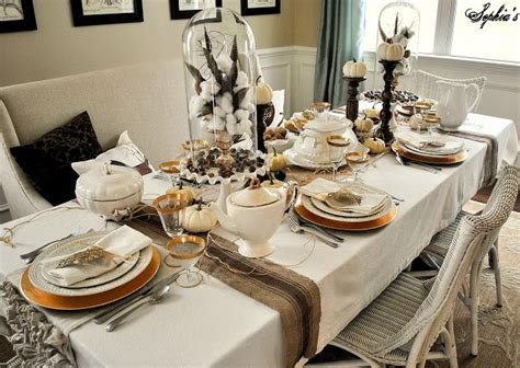 table settings pretty table decorating ideas for thanksgiving day