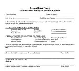 Release Of Records Template by Patient Records Release Form Template Ciij