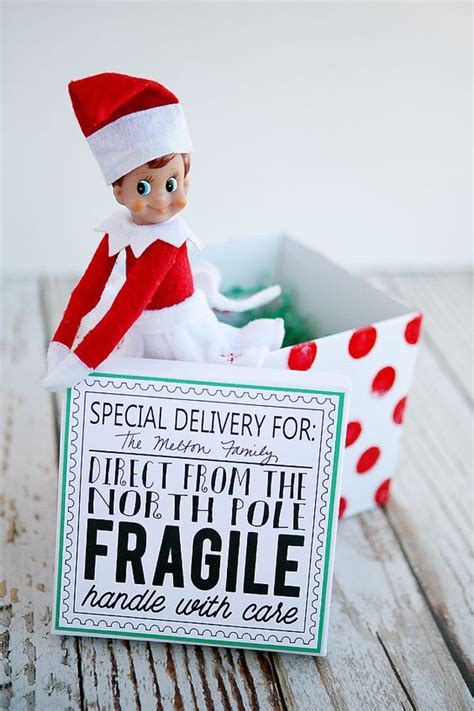 elf on the shelf printable instructions elf on the shelf returns shelf ideas the box and back to