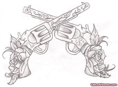 tattoo gun for animals flowers and guns tattoos designs art pinterest gun