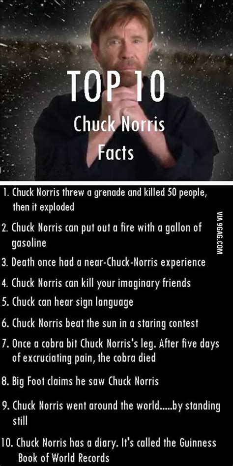 top 10 chuck norris facts 9gag