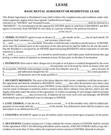 Land Rental Agreement Template by Printable Rental Agreement 7 Free Word Pdf Documents