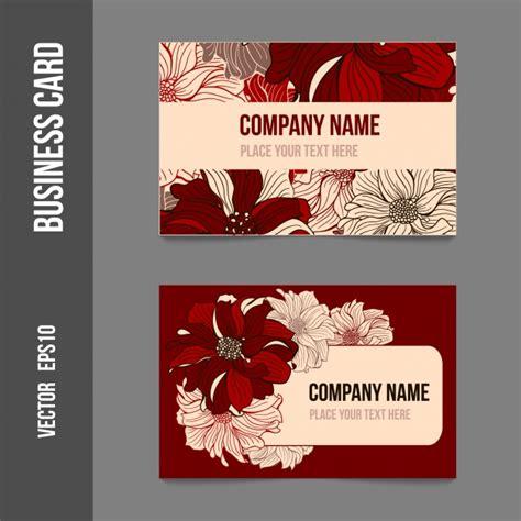 flower design visiting card floral design business card vector free download