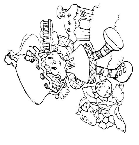 cake with a delicious strawberry coloring book pages strawberry shortcake coloring pages 002 gif 700 215 730