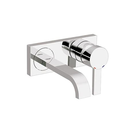 single handle wall mount bathroom faucet grohe allure double hole single handle wall mount vessel