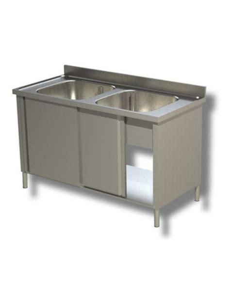 lavello 2 vasche inox lavello inox armadiato 2 vasche dimensioni cm 140x70x85h