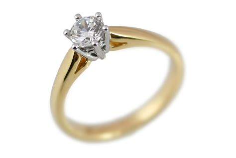 gold solitaire engagement rings hd pink